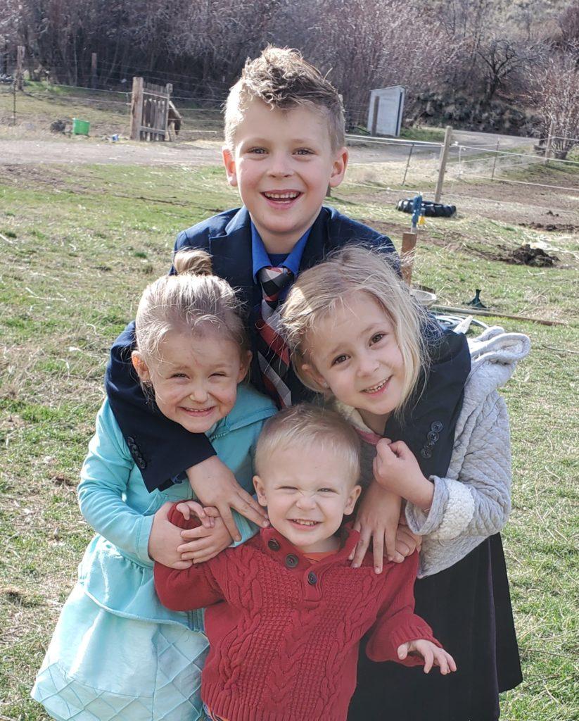 Karl Burnstad with his three siblings