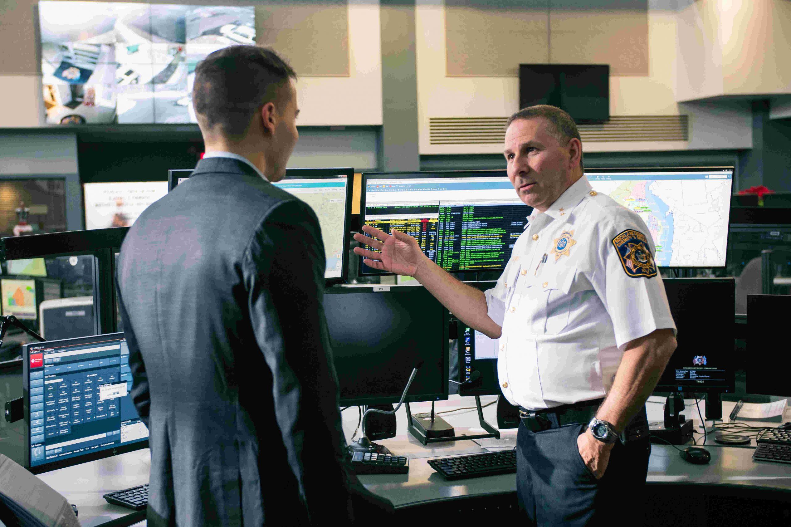 Michael Martin in an Emergency Communication Center