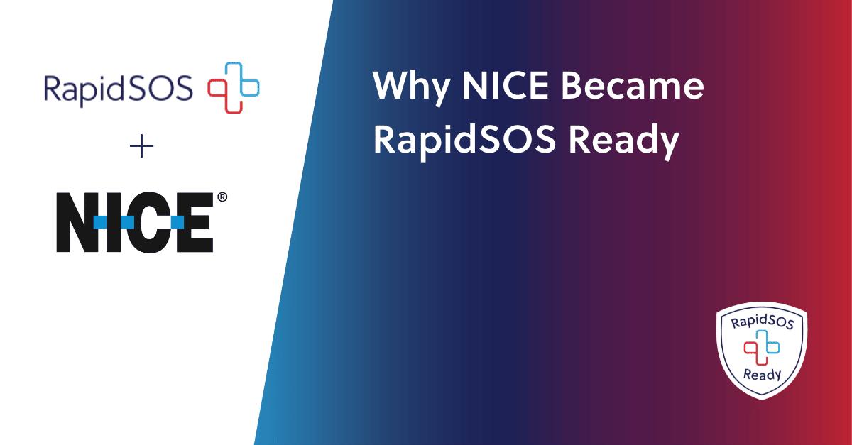 NICE & RapidSOS Announcement Graphic