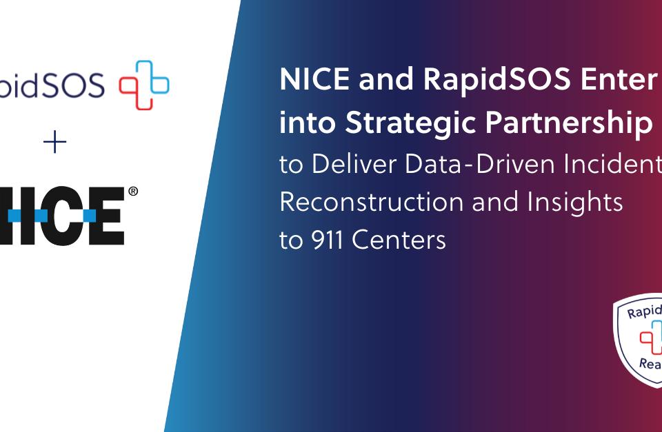 NICE & RapidSOS Press Release Announcement Graphic