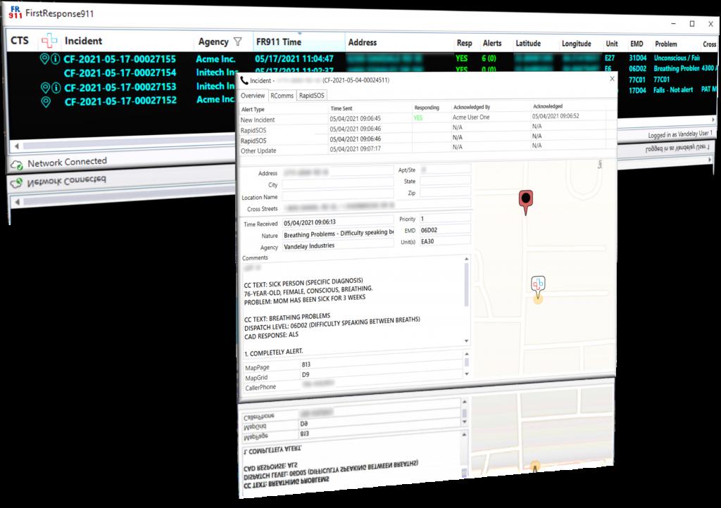 FirstResponse911 RapidSOS Integration